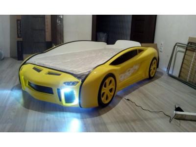 Кровать машина с фарами