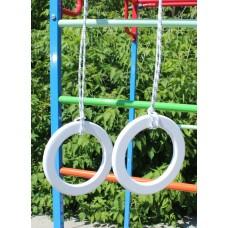 Кольца гимнастические деревянные Цветные